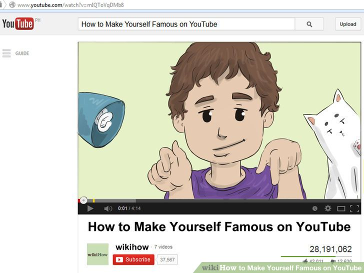 Image titled Make Yourself Famous on YouTube Intro