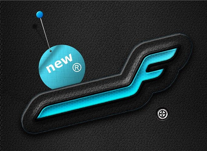 Finnair Logo Pin Leather Design