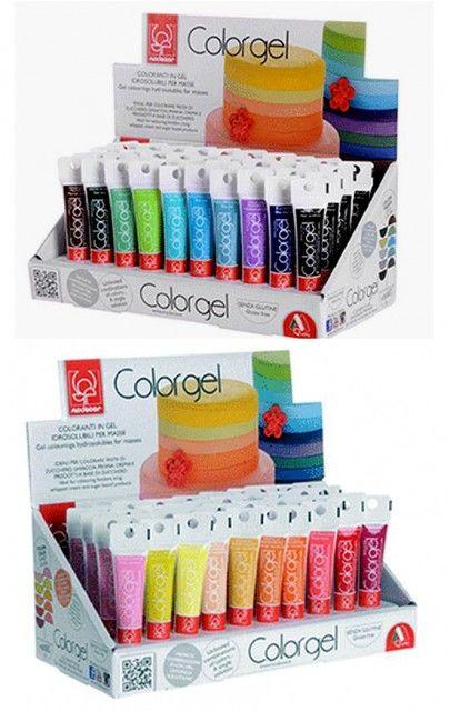 Coloranti Modecor in gel: un arcobaleno di bellissimi colori www.dolcefardolci.com