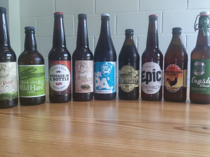 A selection of Kiwi Beers for taste testing
