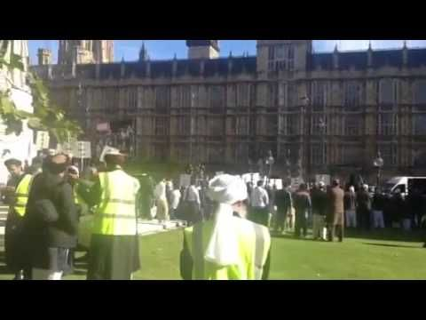 Muslim call to prayer Westminster London 2013 - eye on the prize for the next mosque in central London