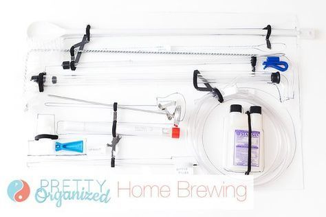 Home Brew: A DIY Beer Brewing Organizer How to make an easy organizer to store all of your home brewing equipment -- so smart! Lots of storage & organizing tips for brewing!