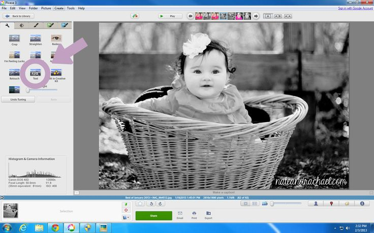 Add text to images to create milestone pictures using FREE photo-editing software!