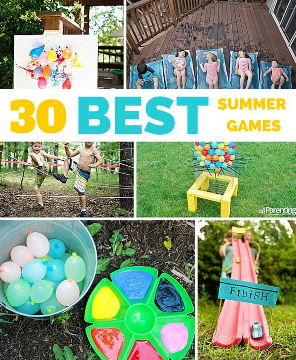 A roundup of 30 awesome outdoor summer games and activities! via Hello Wonderful