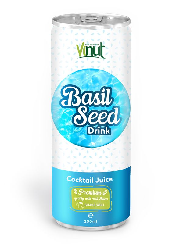 250ml Premium Quality Basil Seed Drink Cocktail Juice Flavour in South Africa