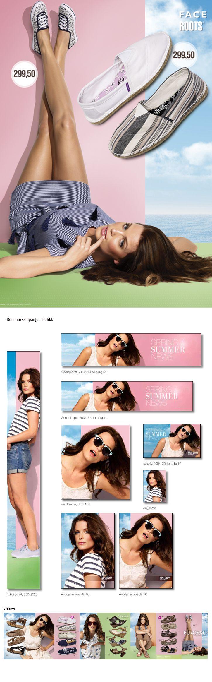 Sommerkampanje for Eurosko Norge. Butikkmateriell, brosjyre og digitale medier.
