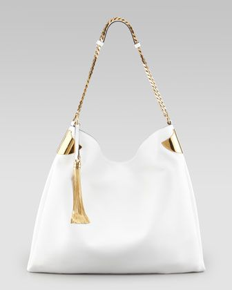 1970 Large Shoulder Bag, White by Gucci at Bergdorf Goodman. @opulentnails Gucci Bags