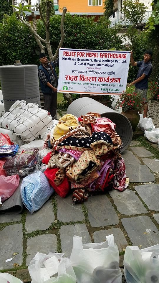 So many blankets! Thanks to all who have donated so far :)  #GVI #NepalEarthquake