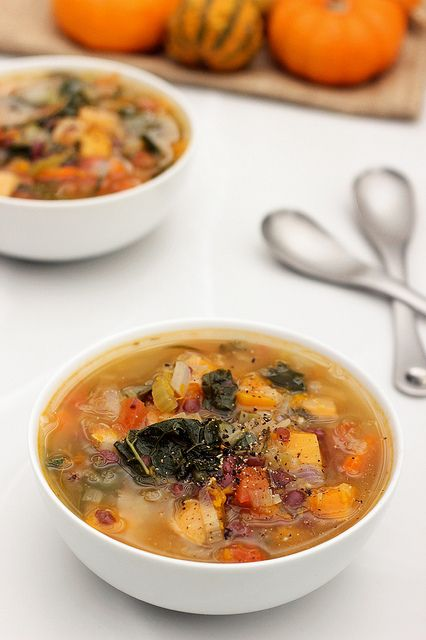 """Fall Detox Soup - Gluten-free + Vegan - """"This particular soup is filled with the best of what is in season right now. If some of these ingredients aren't available near you, improvise with what you do have"""" by Tasty Yummies, via Flickr"""