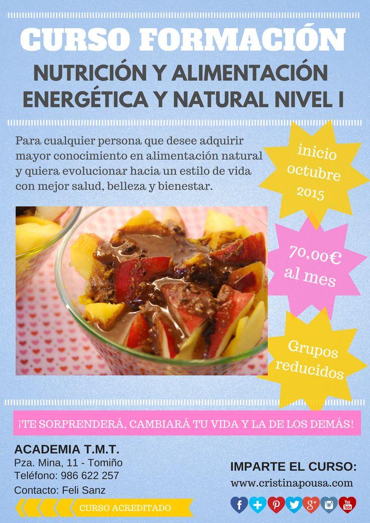 Curso de Alimentación Energética y Natural. Apostando por una educación nutricional integral: cuerpo, mente y emociones.