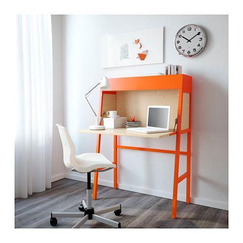 IKEA PS 2014 Secretaire - arancione/impiallacciatura di betulla - IKEA