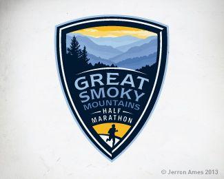 Smoky Mountain Half By Jerron Logos