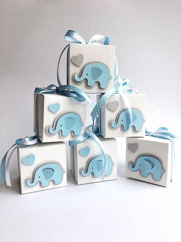 Elephant favor boxes elephant boy baby shower gift favor