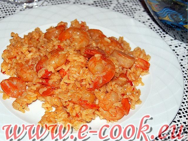Γαρίδες με πιλάφι. | www.e-cook.gr