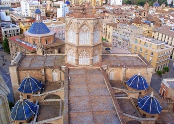 Founded in the 13th century on the site of a mosque, the unusual Valencia Cathedral incorporates a number of architectural styles and artistic treasures - including the Holy Grail! The city of Valencia is located near the east coast of Spain, in a fertile region known for oranges and rice.