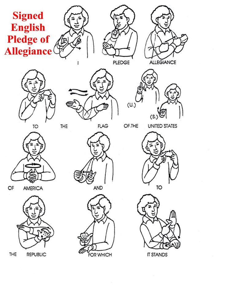 ASL American Sign Language   Pledge of Allegiance. 21 best Sign Language Resources images on Pinterest   American