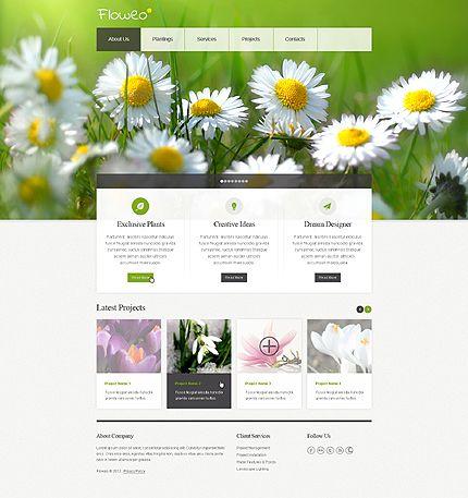 green & simple web design