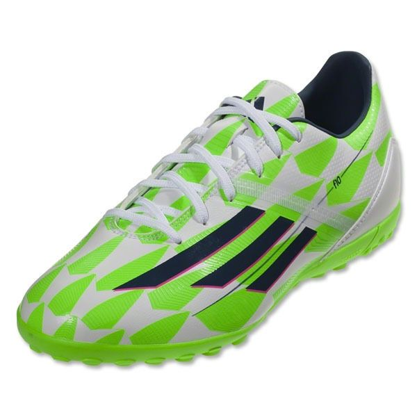 Adidas F10 TF Turf Mens Soccer White/Blue/Green M18318