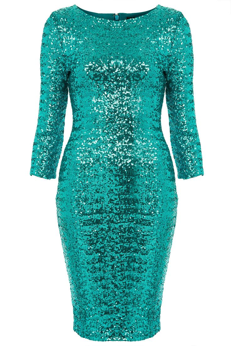 Wal g wrap detail dress with metallic stripe in blue navy lyst - Topshop Sequin Midi Dress In Blue Turquoise Lyst
