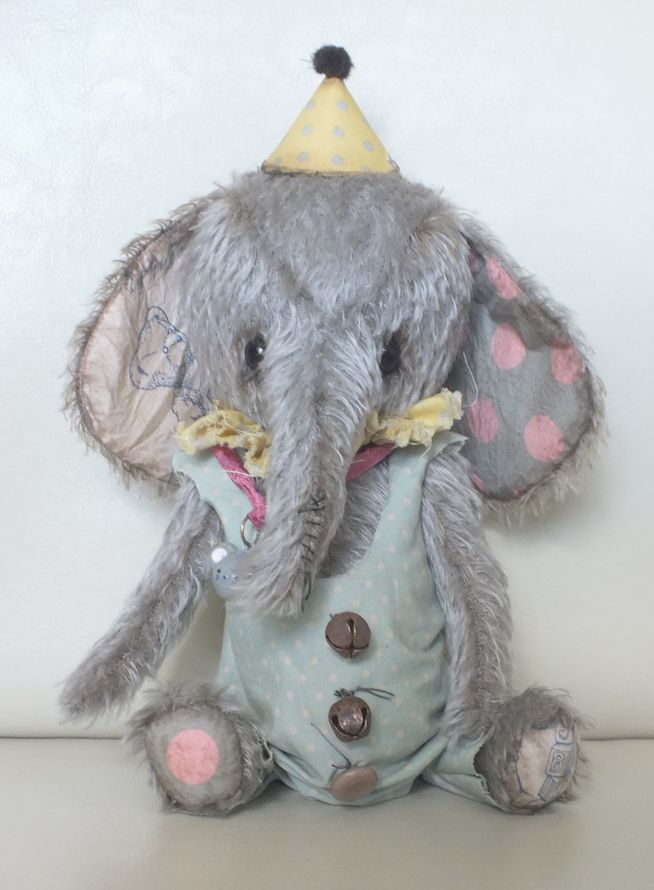 """""""Django"""" a circus elephant with trouser suit by Ragtail n Tickle 2013. Available from http://www.notrunofthemill.com/womens-featured-brands-ragtail-n-tickle.irc"""