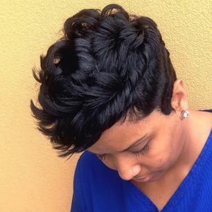 hair styles curly hair this pixiecut done by houstonstylist raqpowers 5192