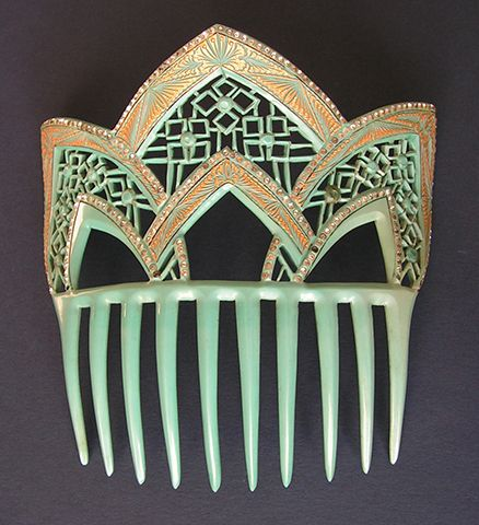 """""""The three combs shown here each carry an important provenance – that of the Miller Comb Museum in Homer, Alaska, and date to the first quarter of the 20th century. They are featured in my book on page 79 (published in 2007) and have since come into my collection."""" Jen Cruse, author of The Comb: Its History and Development"""