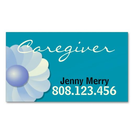 Blue Caregiver Business Card Template Caregiver Card