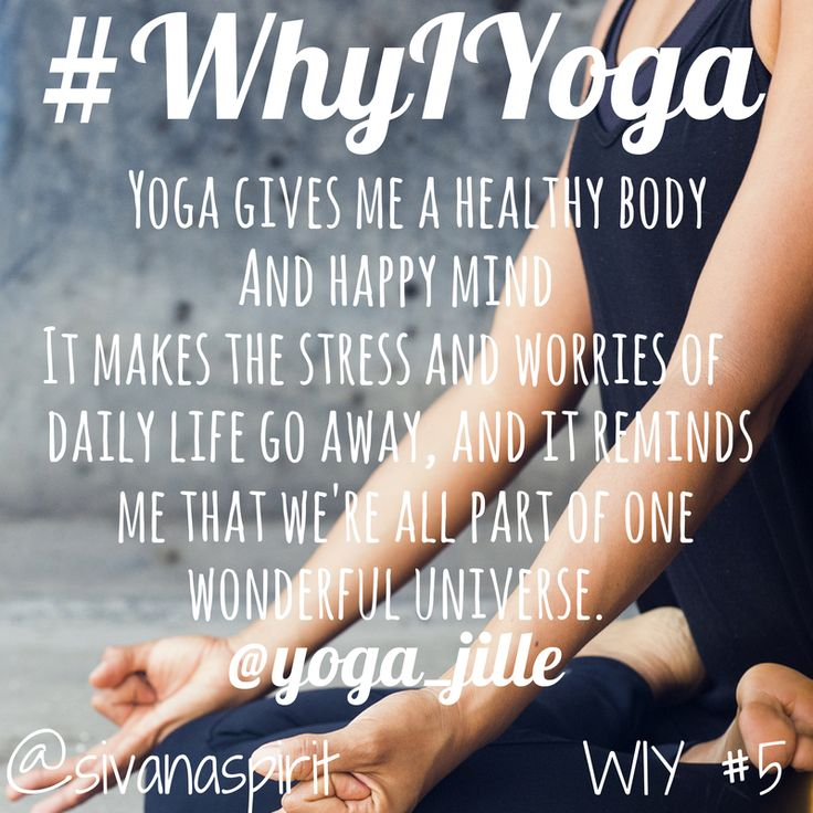 #Yoga gives me a #healthy body and a #happy mind. It makes the #stress and #worries of daily life go away and it reminds me tha… | Inspirational Quotes | Pinte…