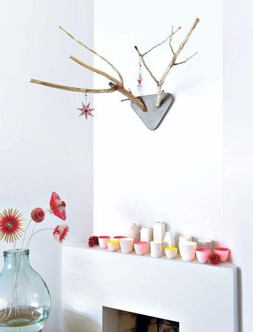 Gewei - antlers Kijk op www.101woonideeen.nl #tutorial #howto #holidayseason #christmas #DIY #decoration #xmas