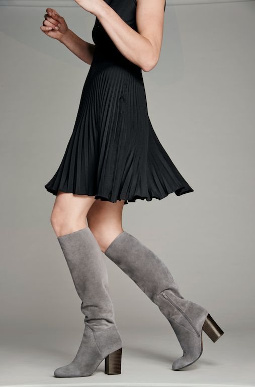 307b0c73c8e Comfort meets style in these grey suede knee-high boots from  VinceCamuto