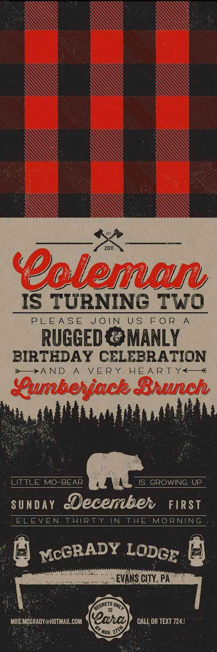 Little Lumberjack themed 2nd birthday party with SUCH CUTE IDEAS