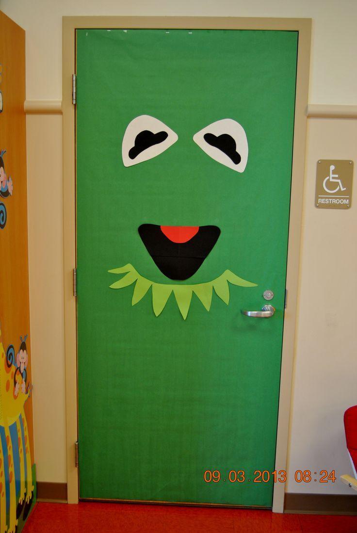 Classroom door with window - Kermit The Frog Classroom Door