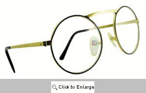 Denver Oversized Round Glasses - 523 Gold