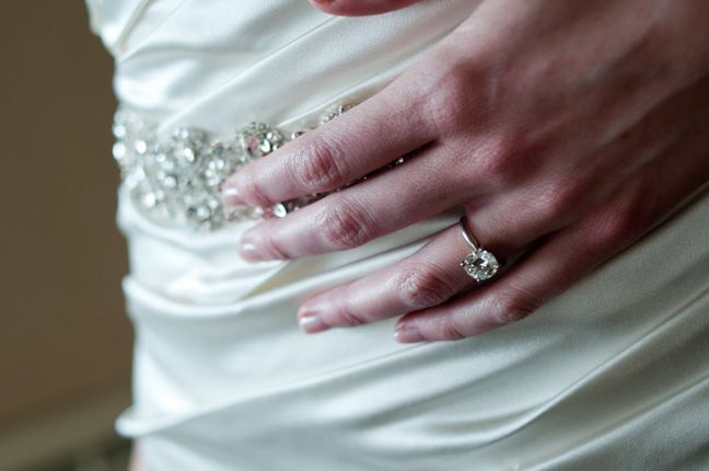 wedding ring with dress