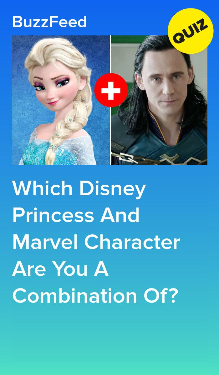 Which Disney Princess And Marvel Character Are You A