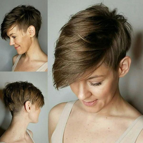 Short Pixie Haircuts Front And Back View Shorthairpixie Short Pixie Haircuts Thick Hair Styles Pixie Haircut