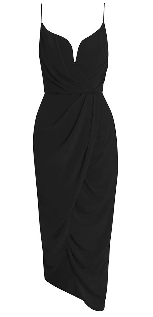 Zimmermann Silk Plunge Drape Dress  the perfect lbd