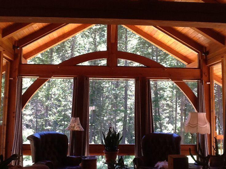 My timber frame living room