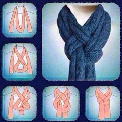 Tutorial para uso do cachecol ou lenço!!! - Cantinho das Ideias