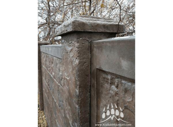 RhinoRock Light Weight Concrete Fencing | Kodiak Mountain Stone