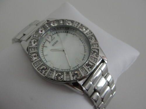GUESS-Damen-Uhr-SPARKLE-SILVER-PERLMUTT-ZIFFERNBLATT G86060L