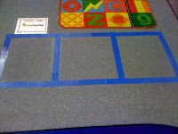 Sound box hop...sounding out strategy with movement....free printable too.