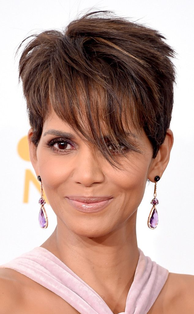 Halle Berry's Earrings from 2014 Emmys: Best Bling  Halle Berry crushed in an Elie Saab confection, and her Doves amethyst earrings were the perfect finishing touch. (Best Eyeliner Brand)