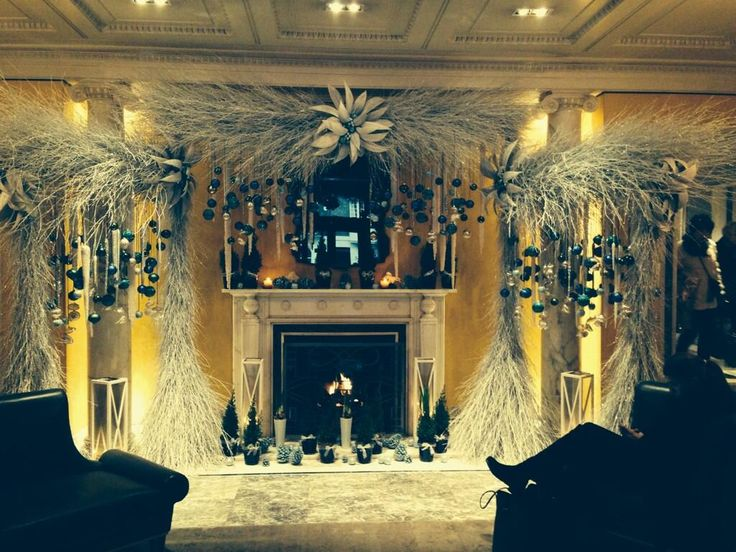 Beautiful icy decorations at The Berkeley, Plymouth