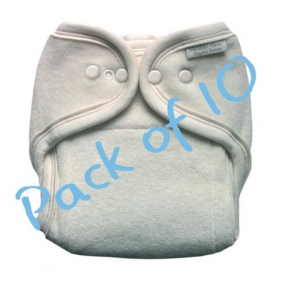 These Motherease nappies are very soft and absorbant. Motherease are made from 100% certified organic cotton.  This is a One Size Motherease nappy, which fits from newborn to toilet training.     This amazing Motherease terry cloth diaper actually grows with your child!