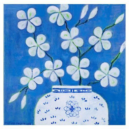 Lámina Blossom in Lavender de Mariska Meijers, 45x45cm