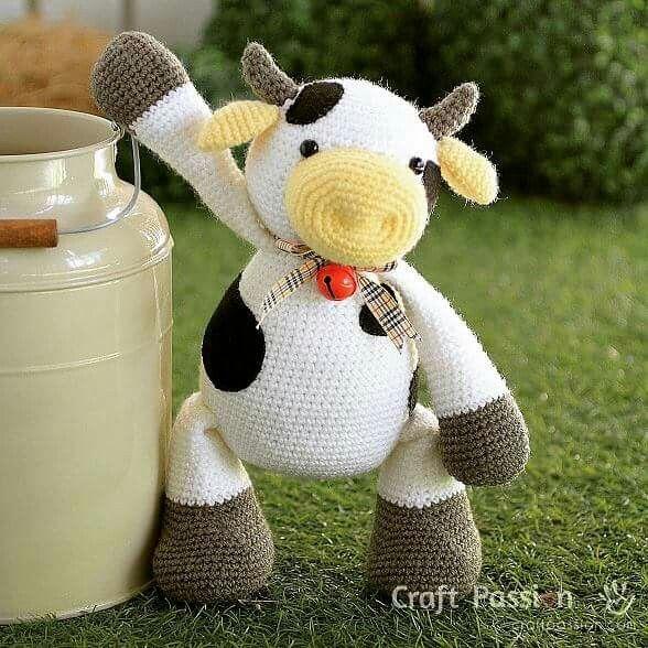 This milk jar is mine... MINE!!! http://www.craftpassion.com/2016/08/moomoo-cow-amigurumi-pattern.html