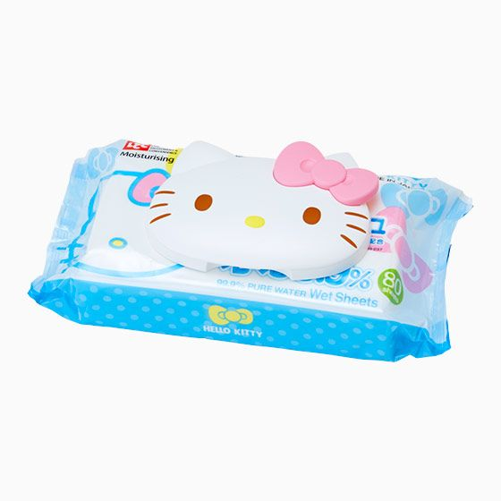 Hello Kitty eco lid with a wet tissue