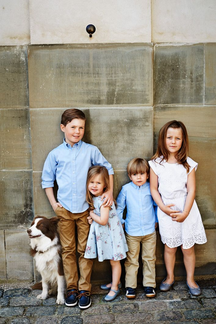 And Ziggy makes five - the family of Crown Prince Frederik and Crown Princess Mary in a photo marking the couple's tenth wedding anniversary