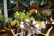 poppies - beach side drinks coconut beer decent thai (overly breaded calamari + decent chicken larb)